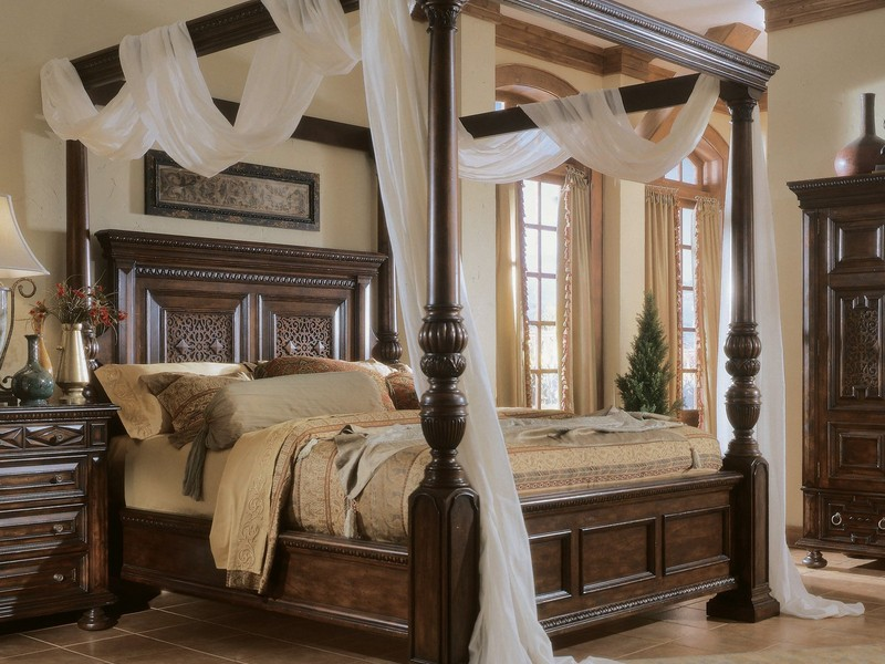 King Canopy Bed Frame