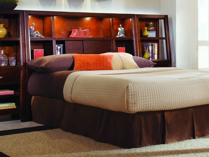 King Size Bed Headboard With Shelves Copy