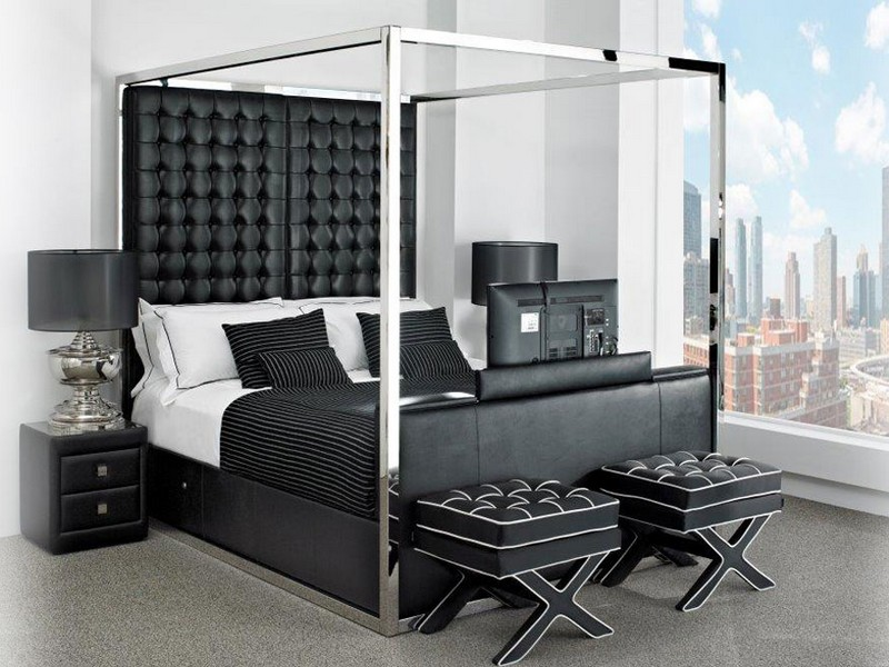 King Size Bed With Tv In Footboard