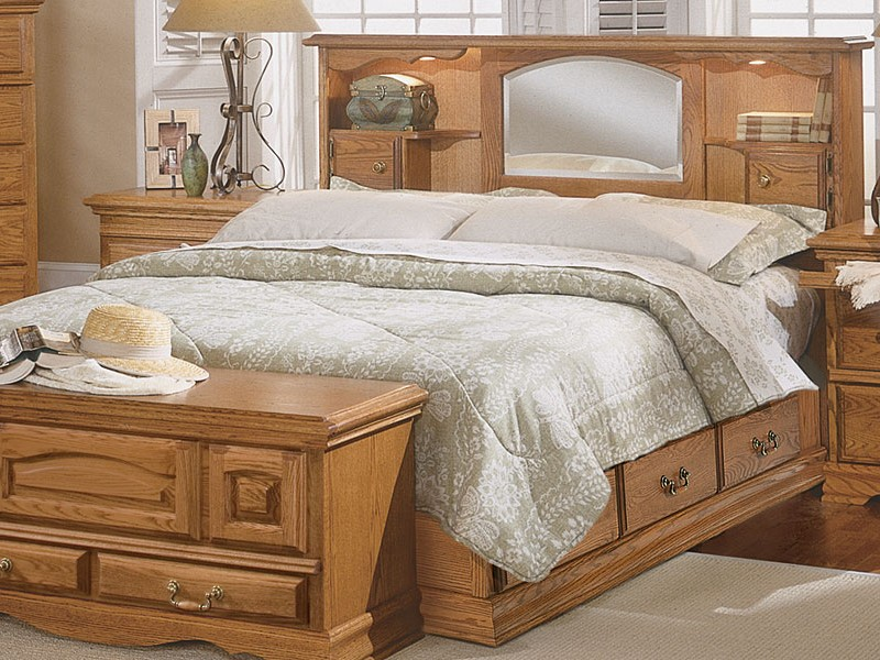 King Size Bookcase Headboard With Mirror