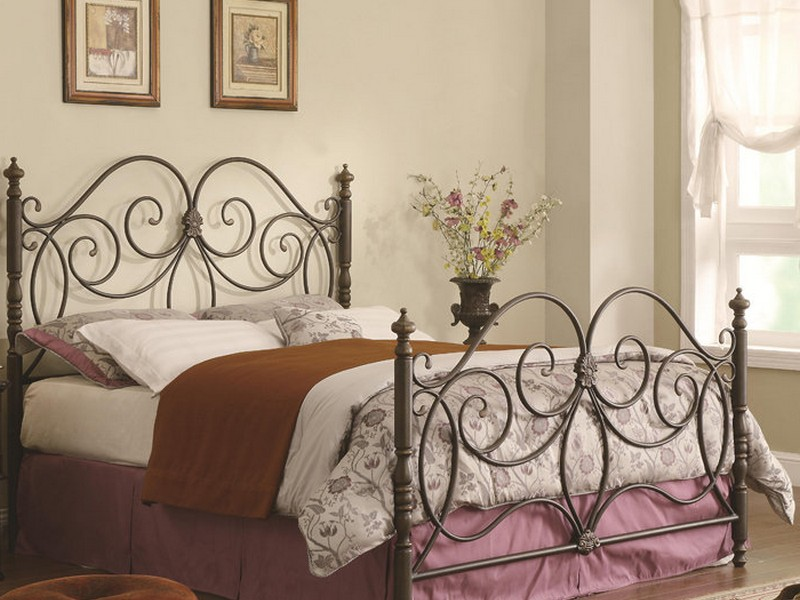 King Size Metal Headboard And Footboard