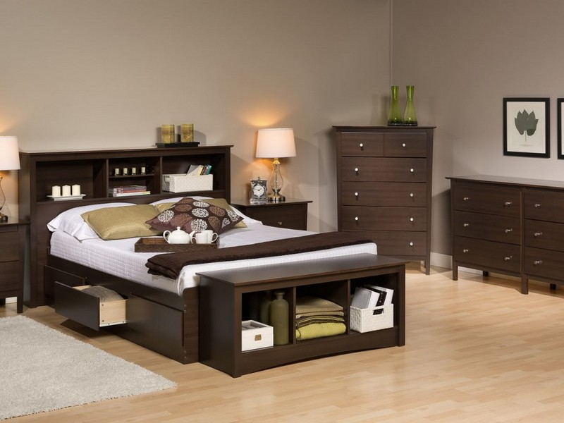 King Size Sleigh Bed With Storage Drawers