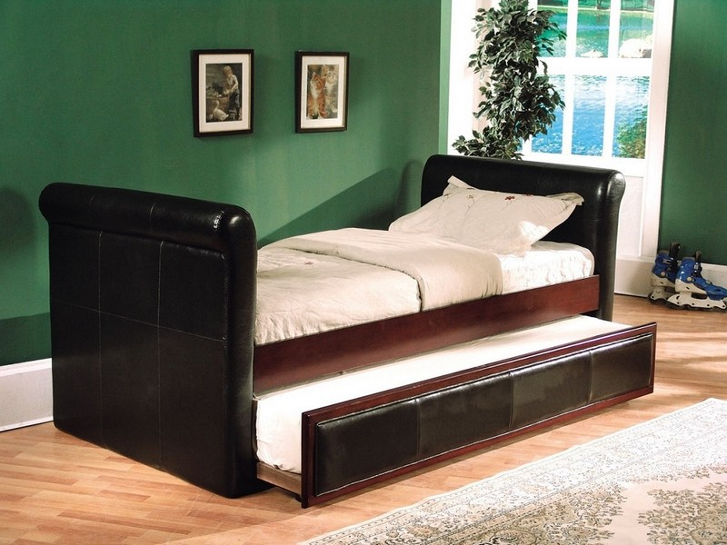 King Sleigh Bed With Drawers