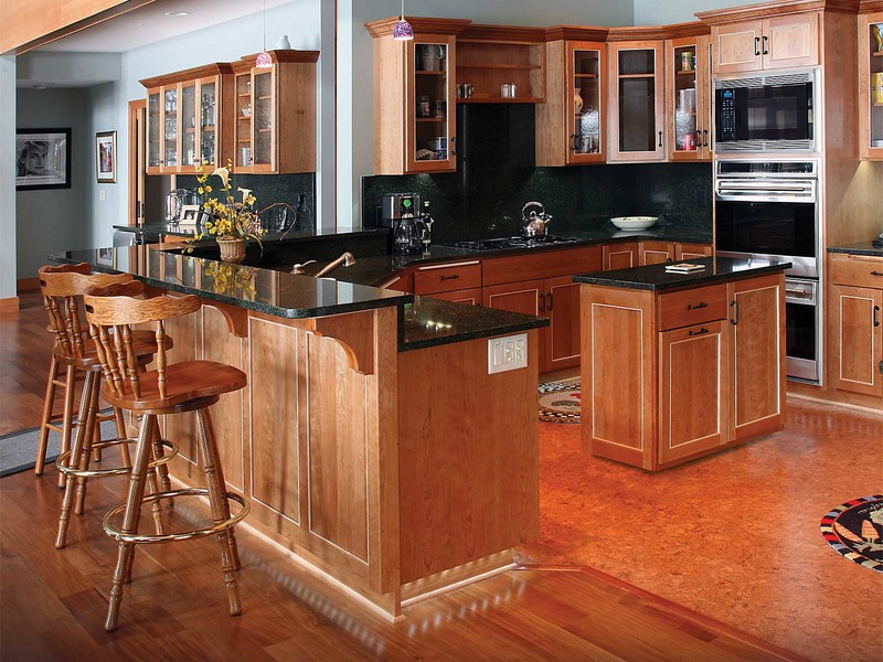 Kitchen Breakfast Bar Table And Chairs Set Wood