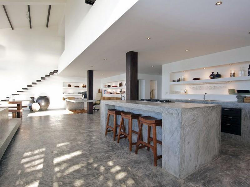 Kitchen Cabinet Concrete Table Top