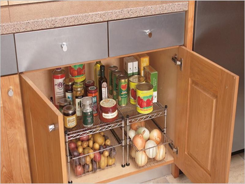 Kitchen Cabinet Shelf Organizers