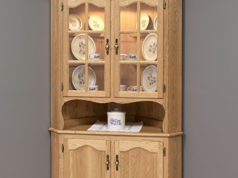 Kitchen Corner Hutch Oak