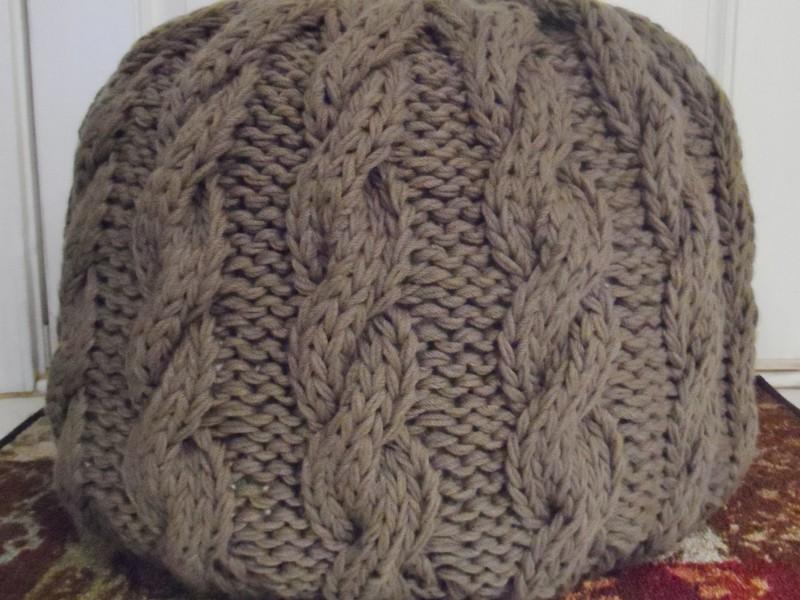 Knitted Pouf Ottoman Pattern Free
