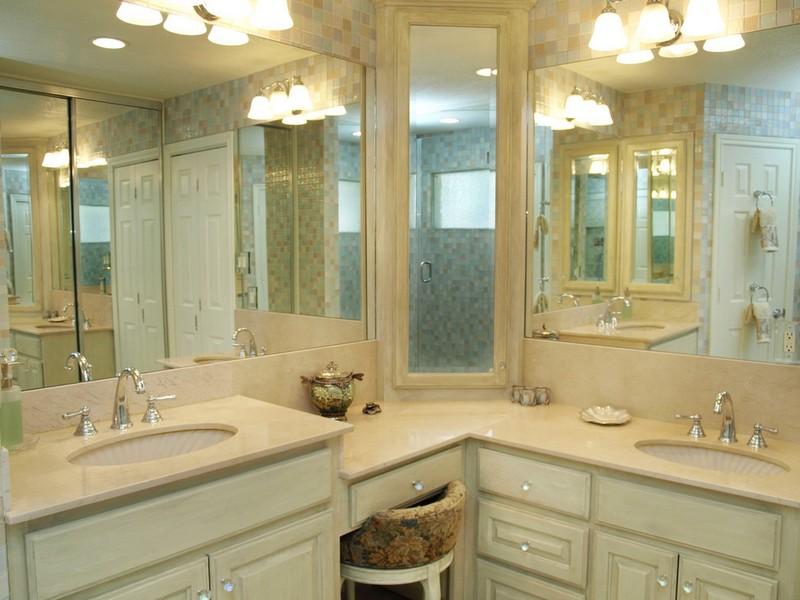 L Shaped Bathroom Vanity Cabinets