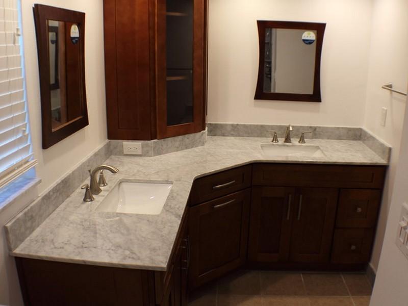 L Shaped Bathroom Vanity Design