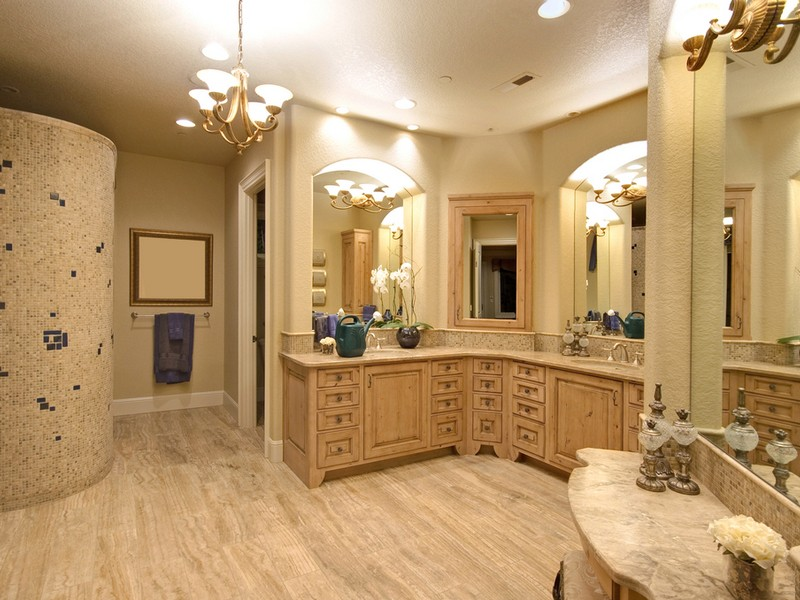 L Shaped Bathroom Vanity Suite