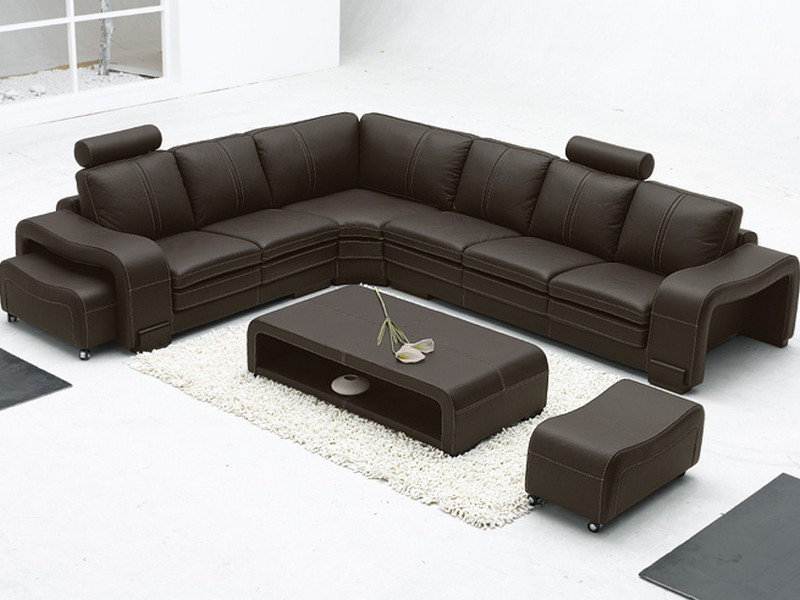 L Shaped Leather Sectional