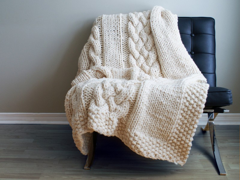 Large Cable Knit Comforter