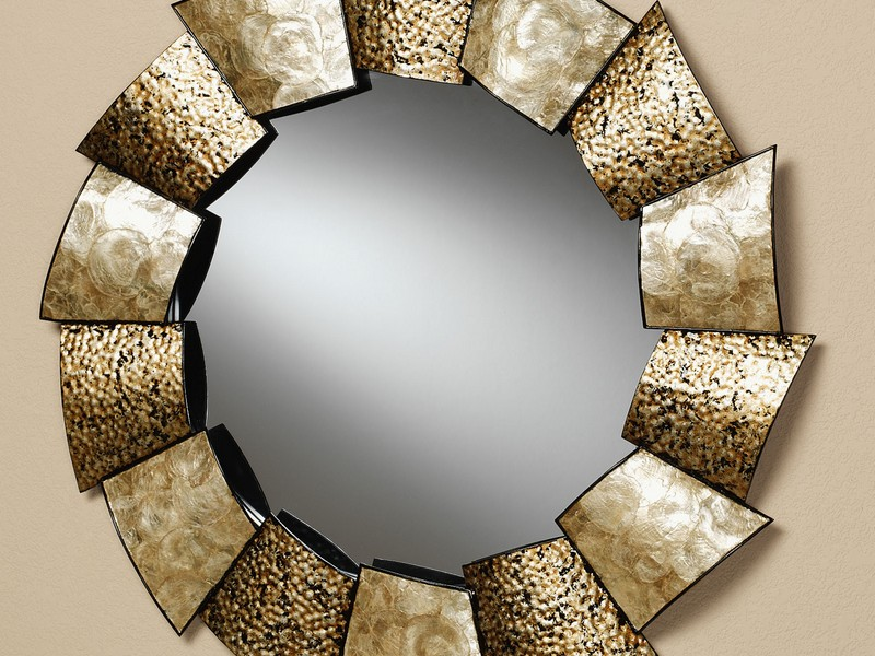Large Circle Mirror Wall Art