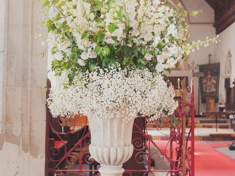 Large Floral Arrangements In Urns