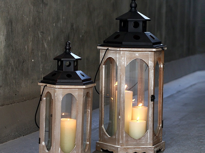 Large Glass Floor Standing Candle Holders