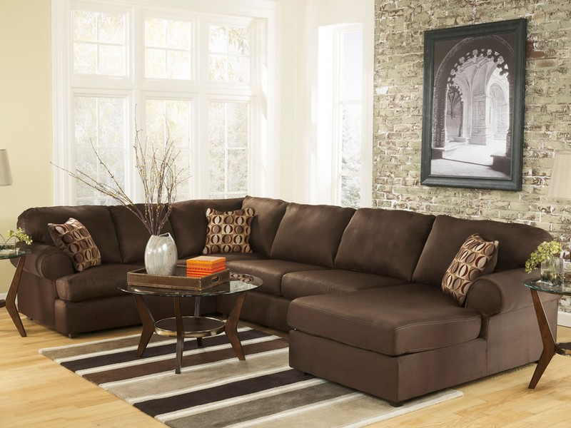 Large Leather Sectional With Chaise