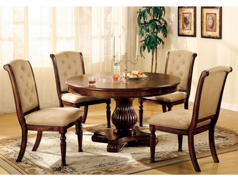 Large Round Dining Table With Lazy Susan