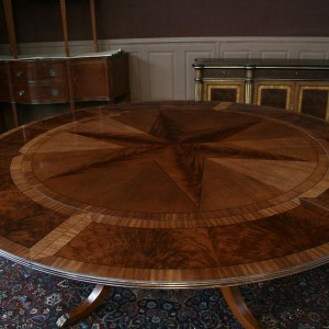 Large Round Dining Table With Leaves