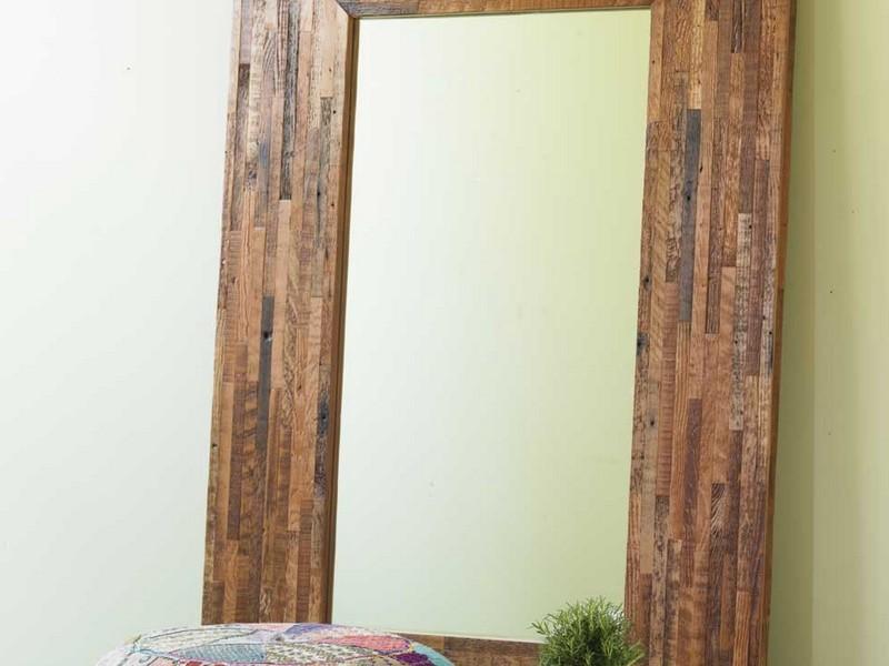 Large Rustic Floor Mirror