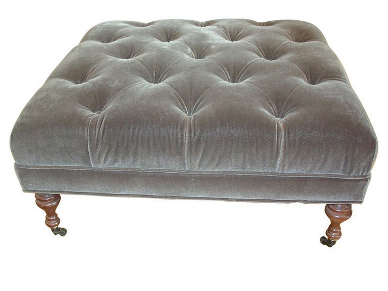 Large Tufted Ottoman Coffee Table