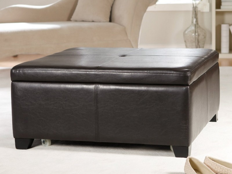 Large Upholstered Storage Ottoman