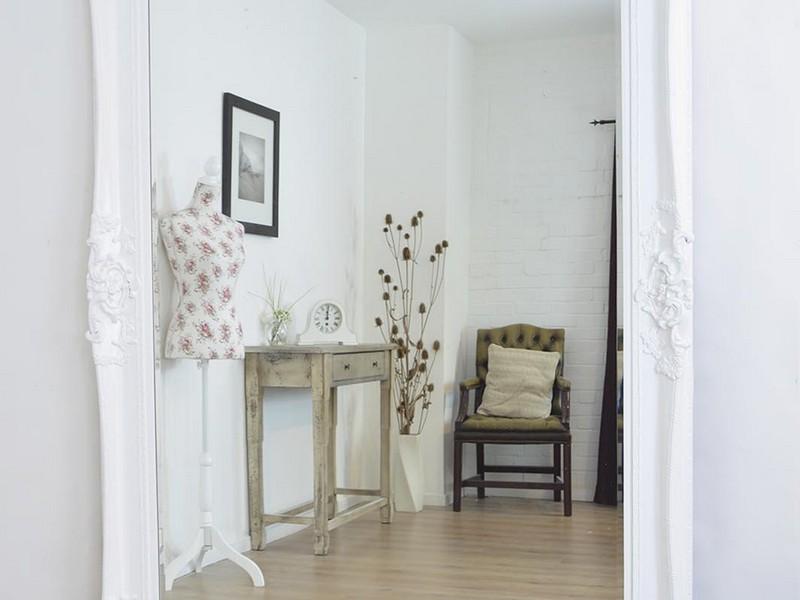 Large White Ornate Mirrors