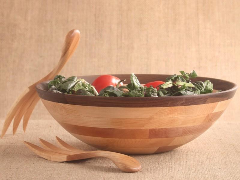 Large Wooden Salad Bowls