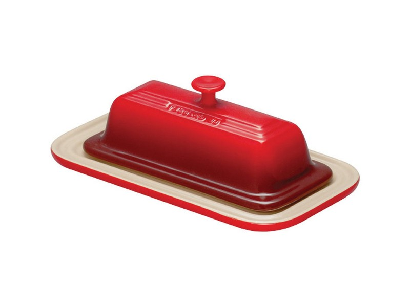 Le Creuset Butter Dish Red
