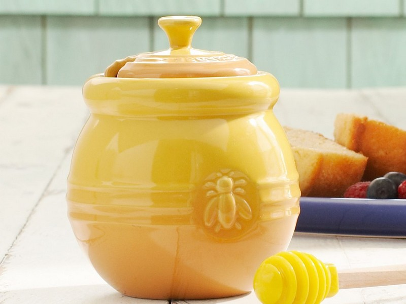 Le Creuset Honey Pot And Dipper
