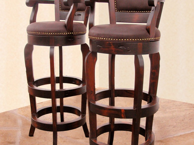 Leather Bar Stools With Back And Arms