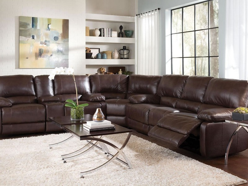 Leather Couch Recliner Set