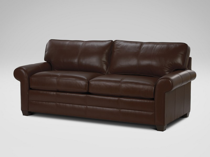 Leather English Roll Arm Sofa