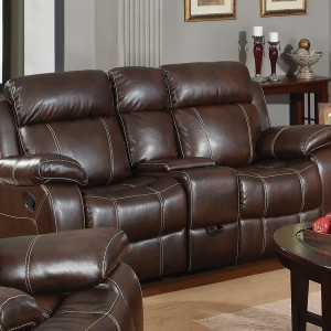 Leather Loveseat Recliners With Console
