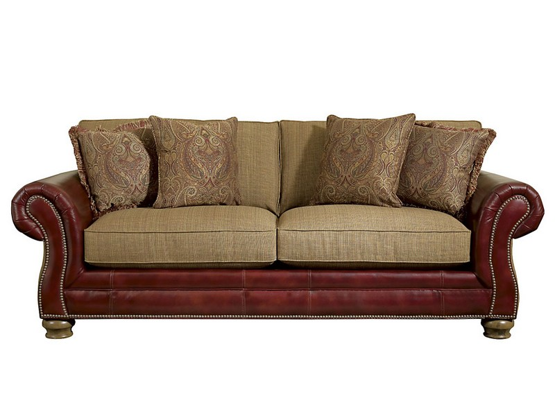 Leather Nailhead Sofa