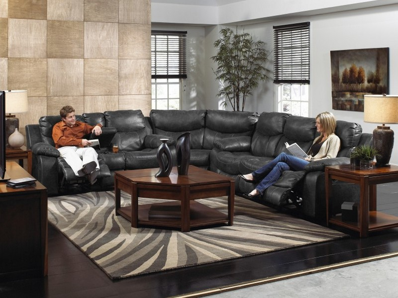 Leather Power Recliner Loveseat