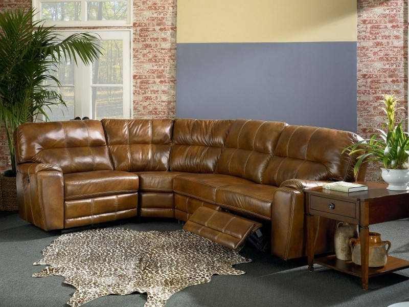 Leather Power Recliner With Cup Holders