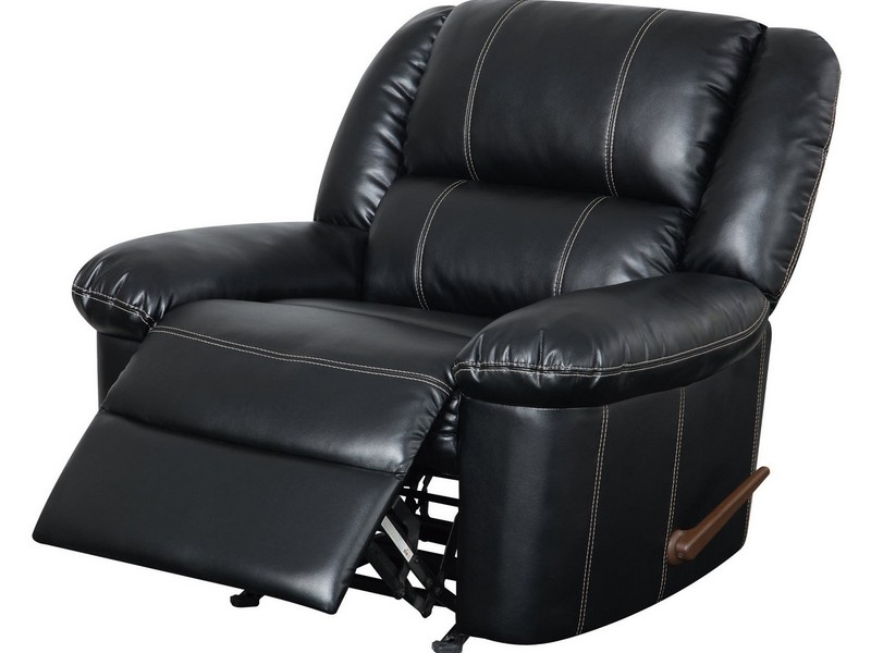 Leather Recliner Rocker