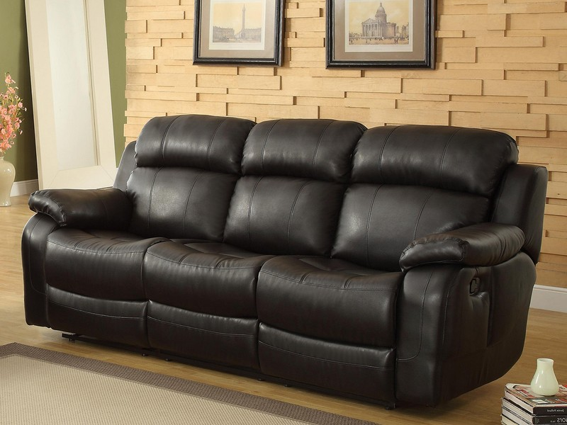 Leather Recliner Sofa Bed
