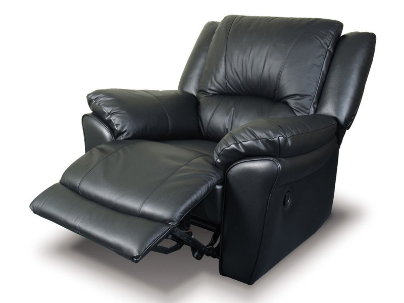 Leather Reclining Chair With Ottoman
