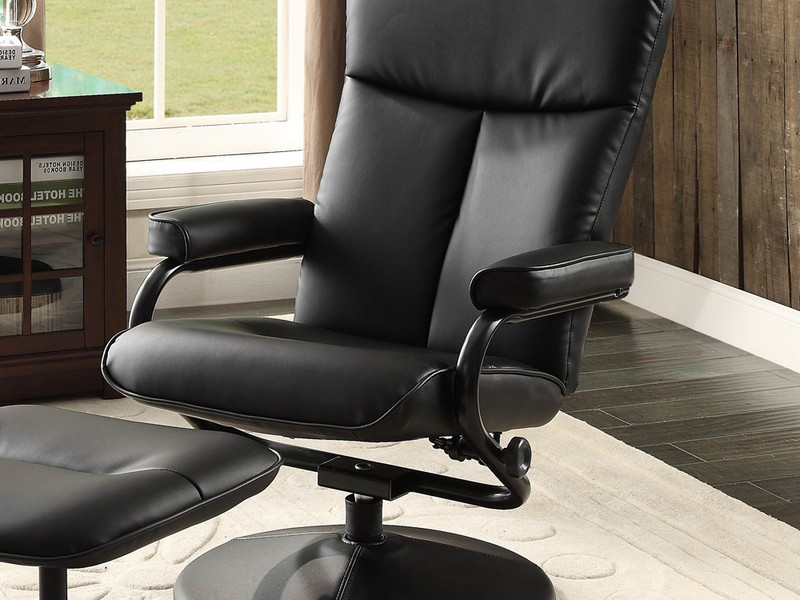 Leather Reclining Club Chair