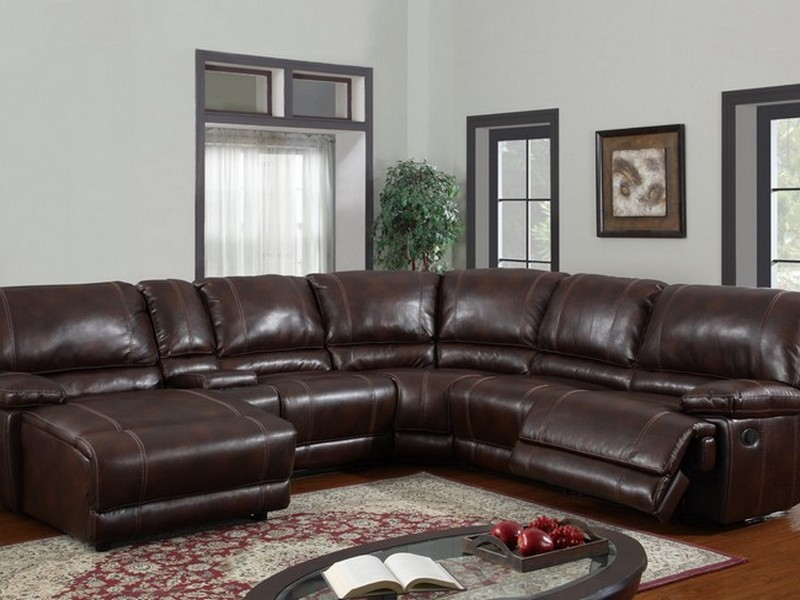 Leather Reclining Sectional Sofa