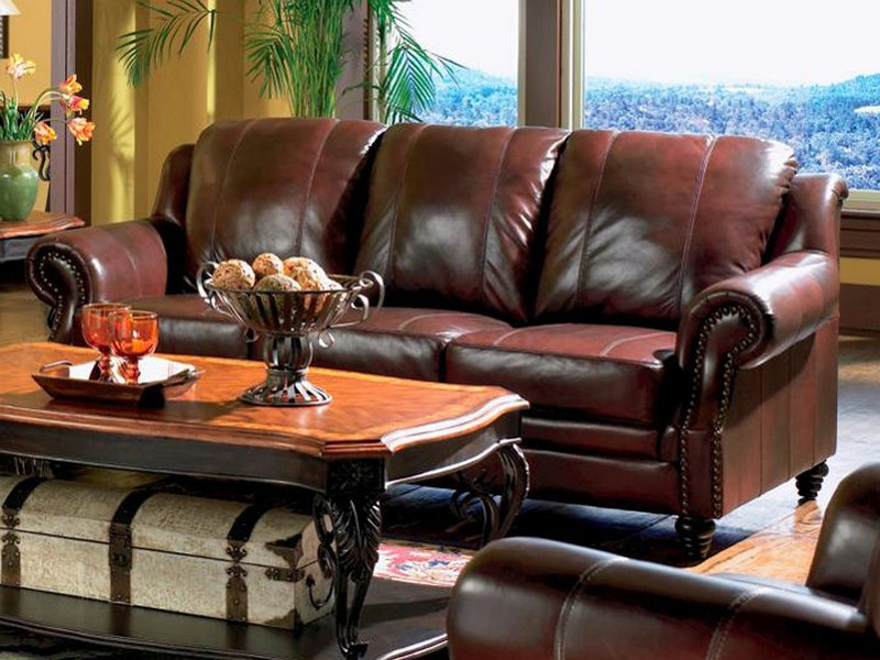 Leather Reclining Sofa With Chaise