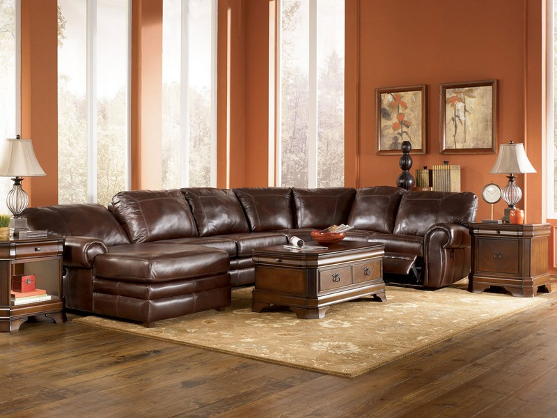 Leather Sectional Power Recliner