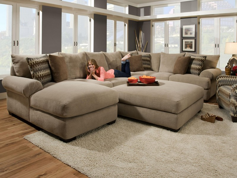 Leather Sectional With Ottoman
