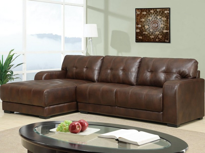 Leather Sleeper Sectional