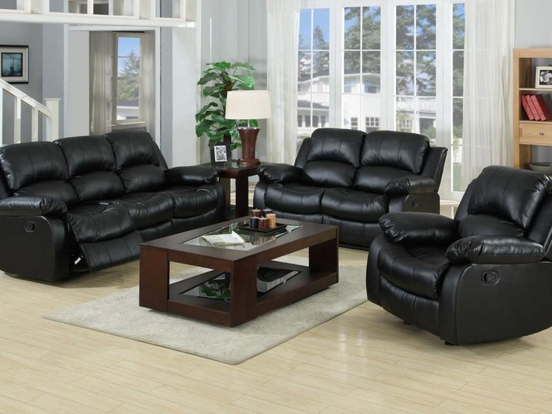 Leather Sofa Recliner Set