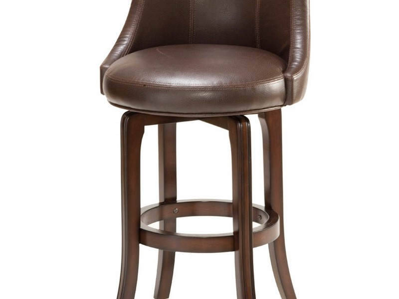 Leather Swivel Counter Stools With Backs