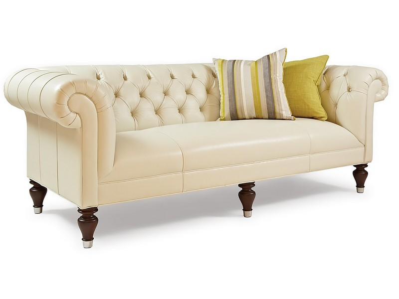Leather Tufted Couch