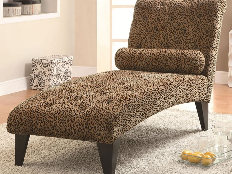 Leopard Chaise Lounge Chair Animal Print
